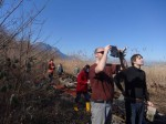 Arrivée de l'hélico d'Air Glacier - Réserve Naturelle des Grangettes