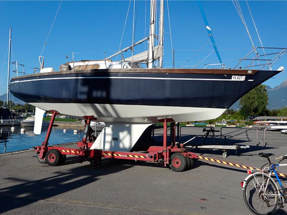 Mise à l'eau du voilier Brise de Mer 'Tamerlan 2' - Port Valais